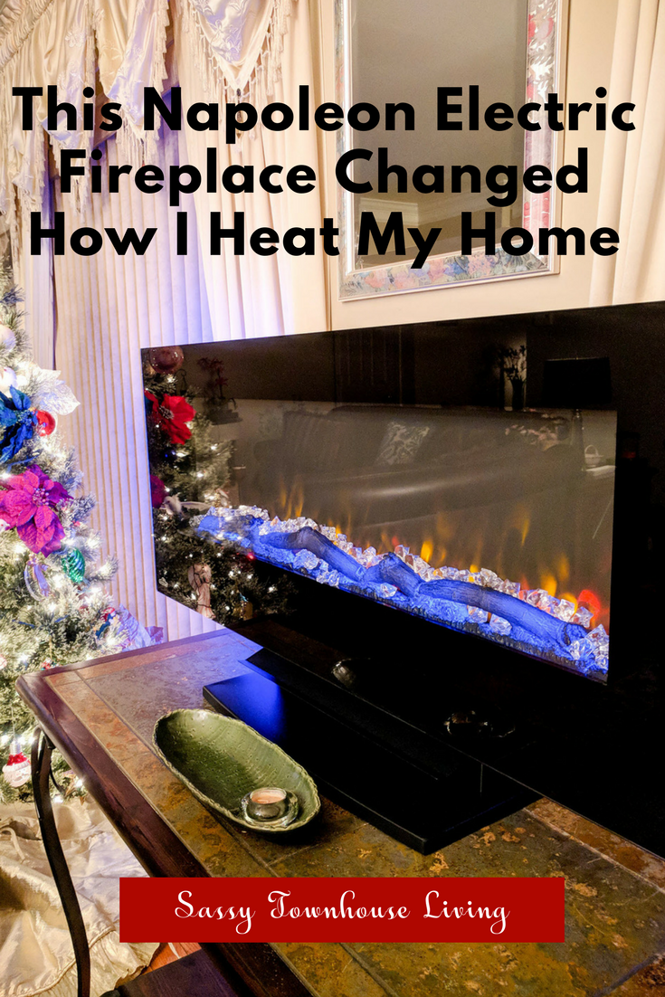 This Napoleon Electric Fireplace Changed How I Heat My Home - Sassy Townhouse Living