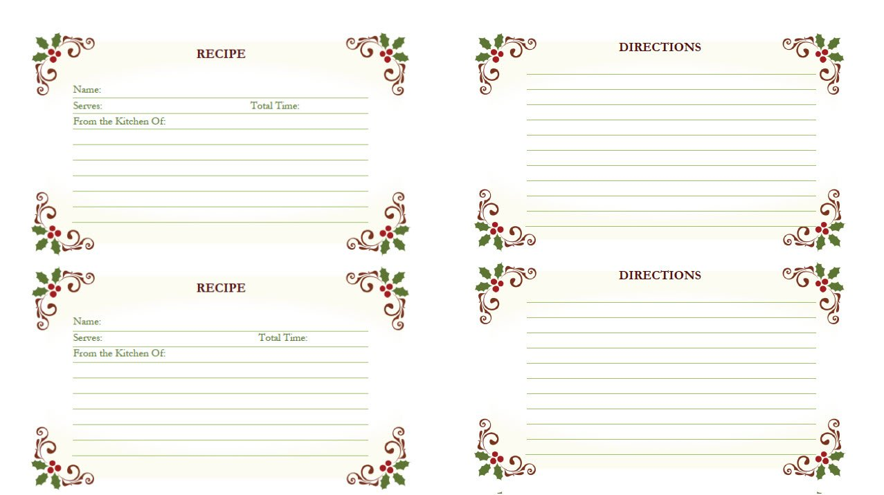 printable winter recipe cards for you