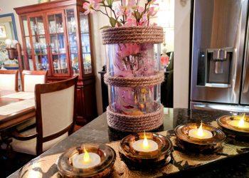 twine table vase