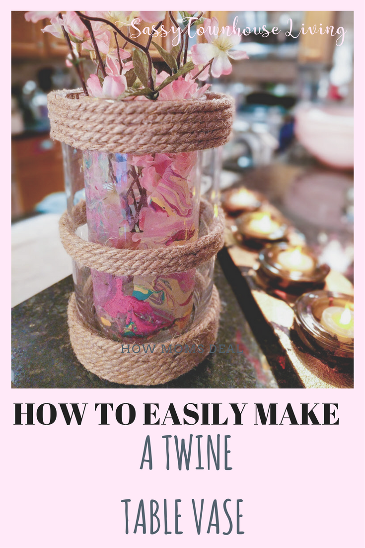 How To Easily Make A Twine Table Vase - Birch Lane Knockoff - Sassy Townhouse Living