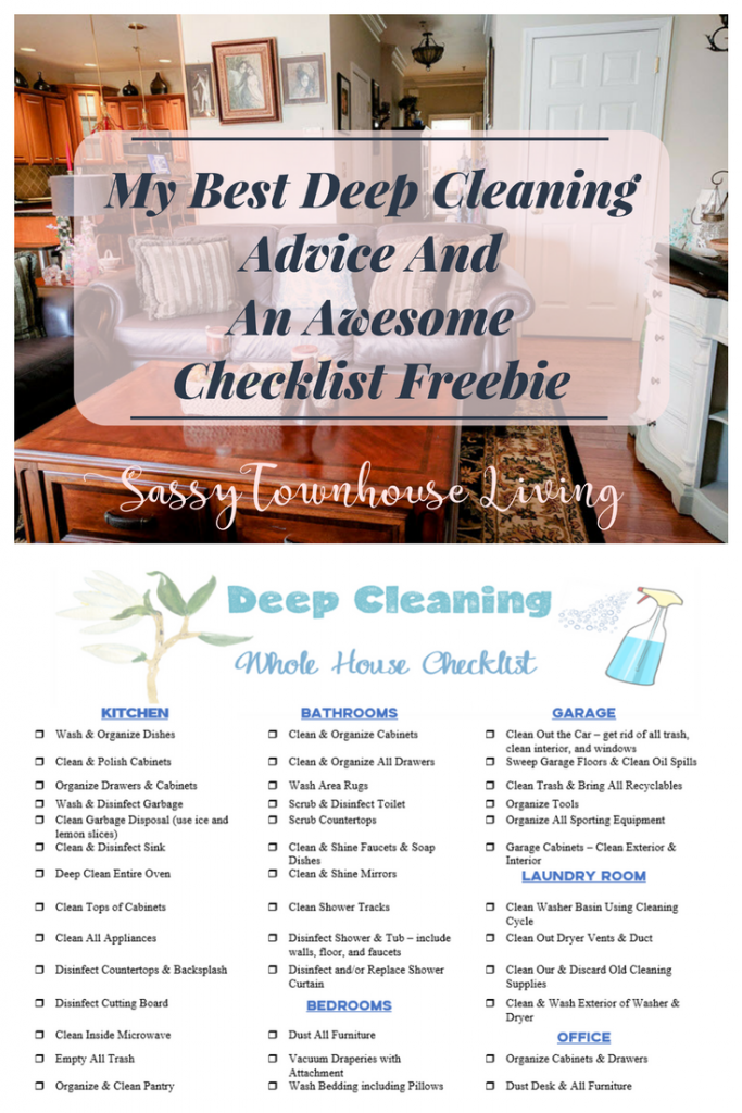 My Best Deep Cleaning Advice And An Awesome Checklist Freebie - Sassy Townhouse Living