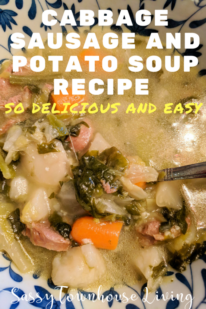 cabbage sausage and potato soup