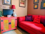 Fusion Mineral Paint Pop Of Color Cabinet Transformation