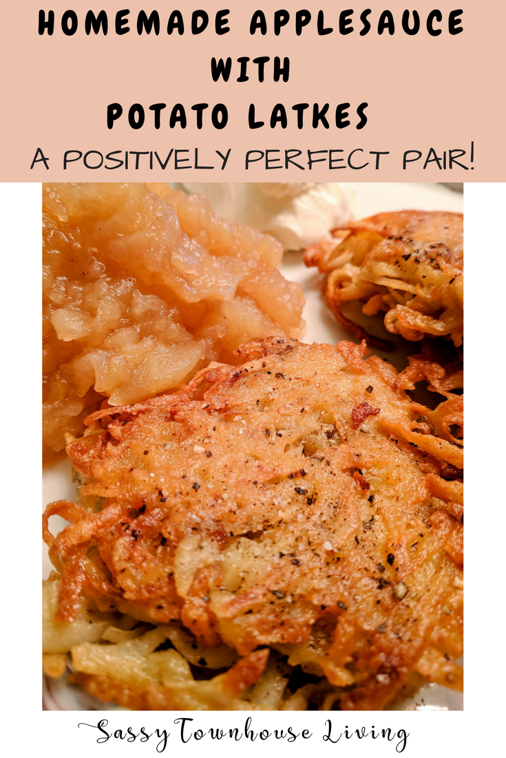 Homemade Applesauce With Potato Latkes - A Positively Perfect Pair - Sassy Townhouse Living