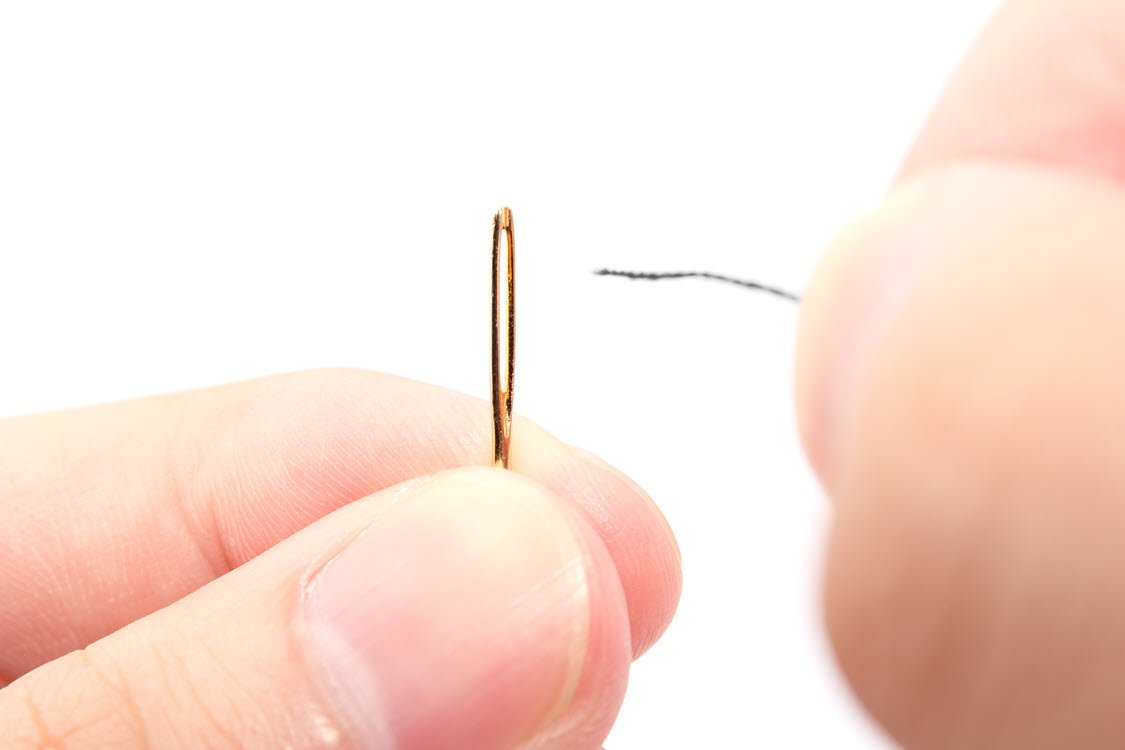 threading a needle