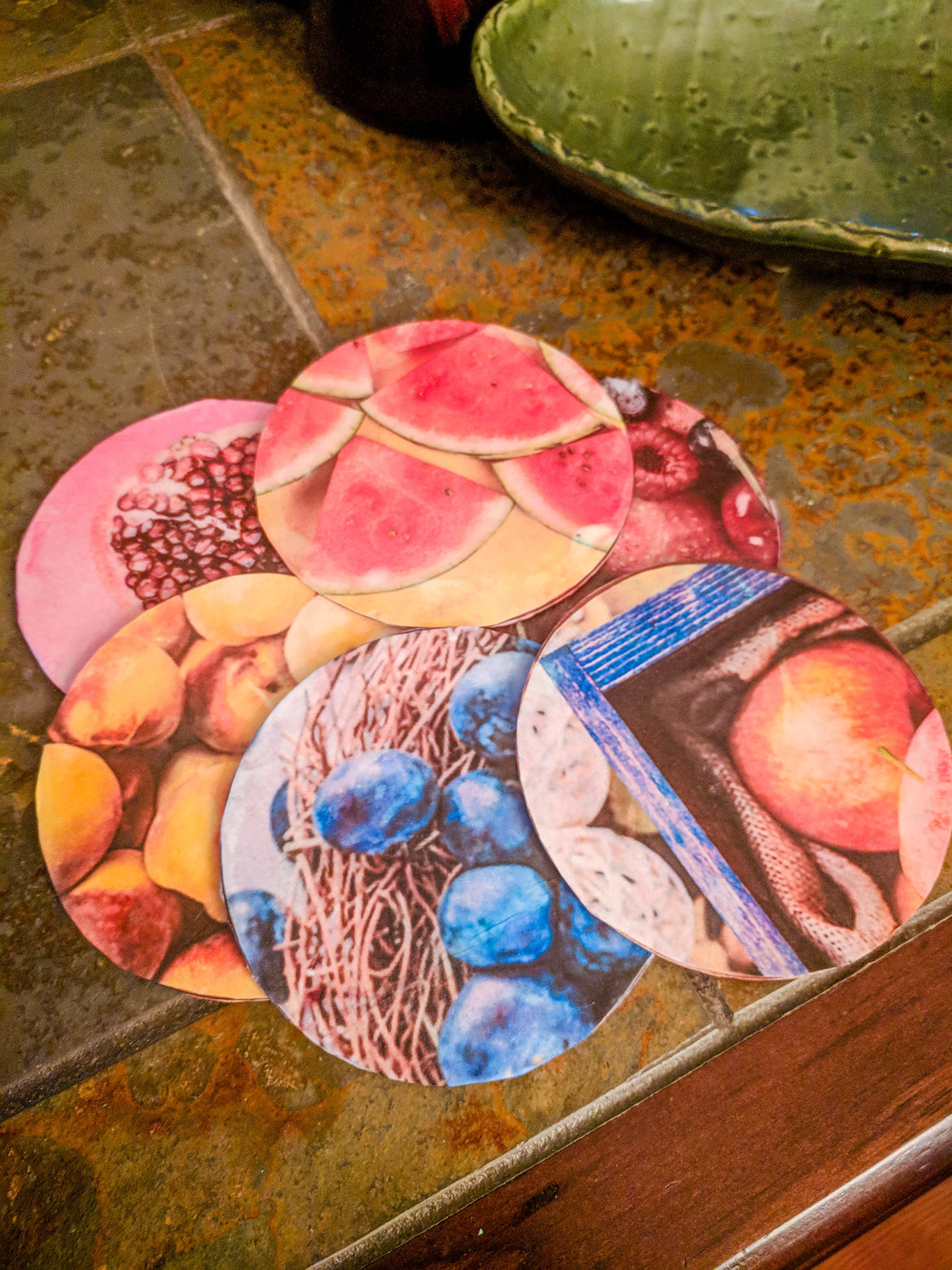 upcycle Olive Garden coasters