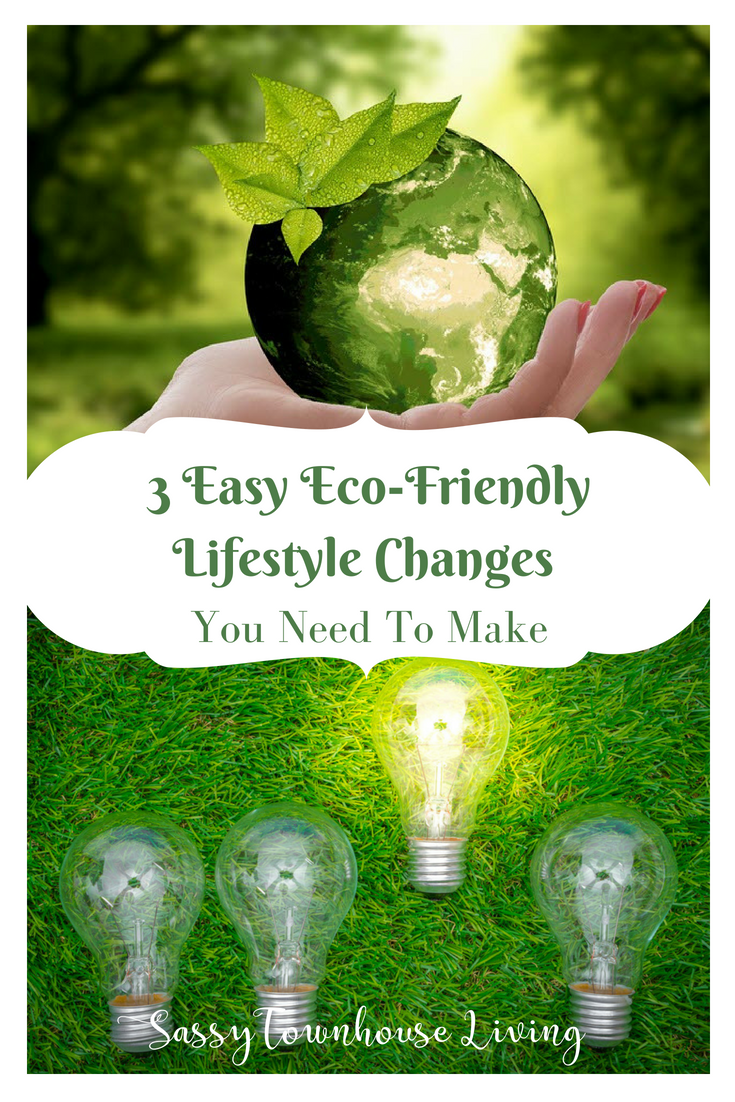 3 Easy Eco-Friendly Lifestyle Changes You Need To Make - Sassy Townhouse Living