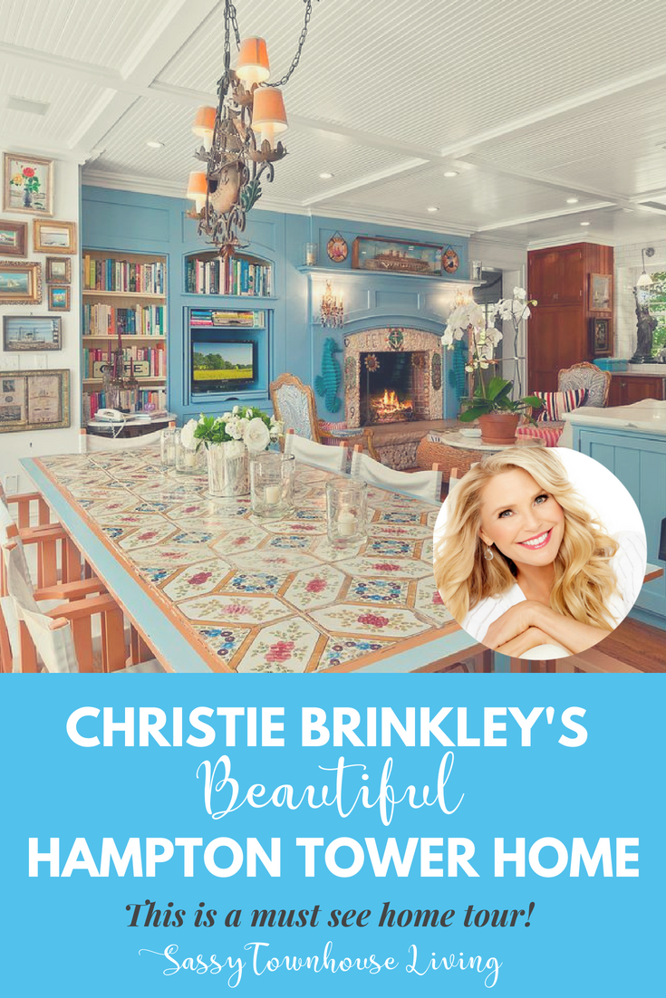 Christie Brinkley Is Selling Her Hampton Tower Home - Sassy Townhouse Living