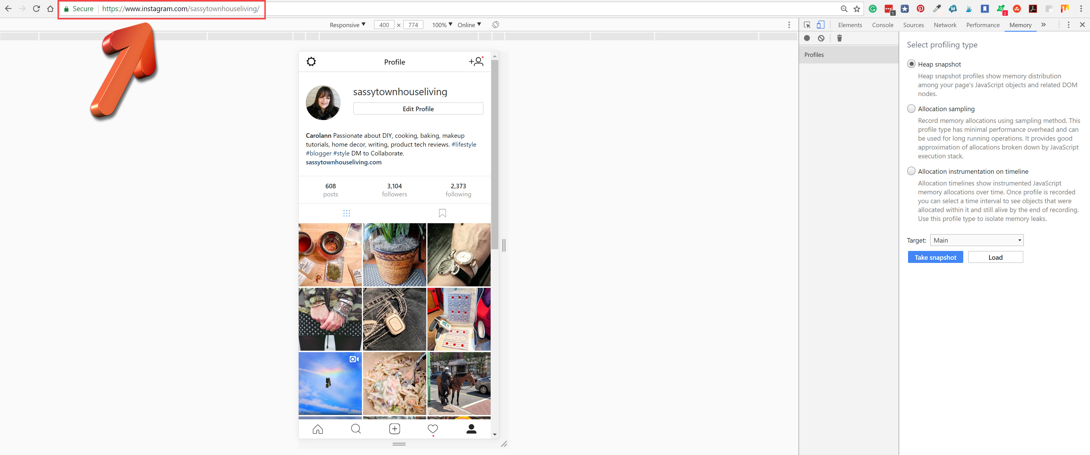 post to Instagram with Chrome
