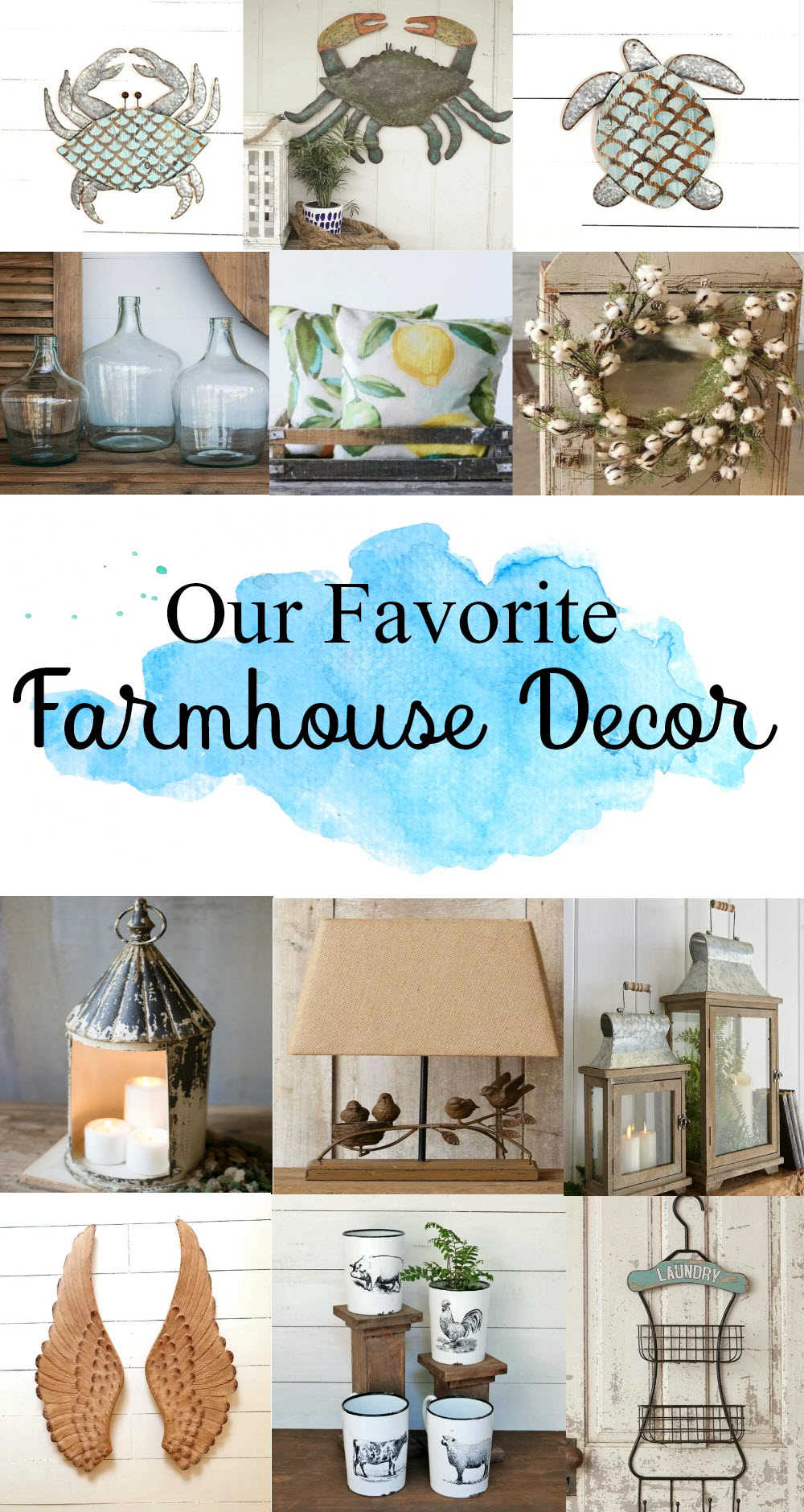 Our Favorite Farmhouse Decor Items You Need To See - Sassy Townhouse Living