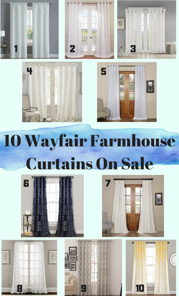 10 Wayfair Farmhouse Curtains On Sale You Need To See - Sassy Townhouse Living