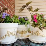 How To Make Beautiful Applique Clay Flower Pots