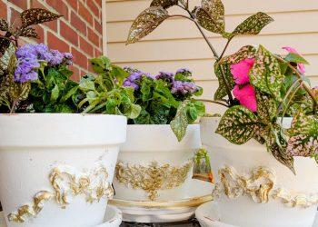 Efex Applique Clay Flower Pots