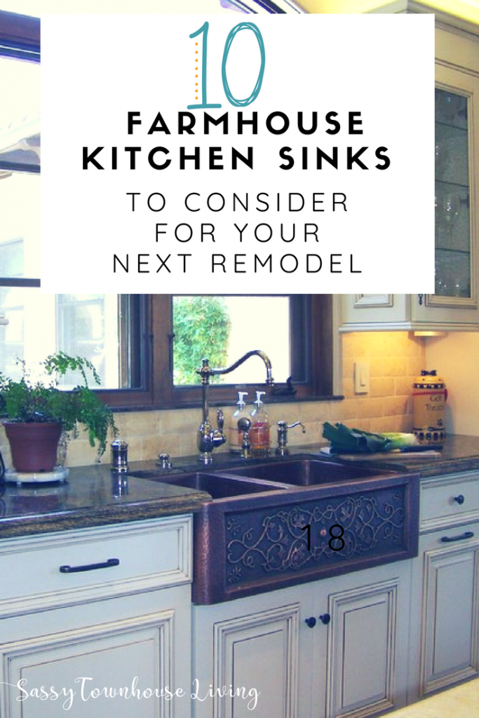 10 Farmhouse Kitchen Sinks To Consider For Your Next Remodel - Sassy Townhouse Living