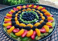 Fruit Pizza Cheesecake Tart