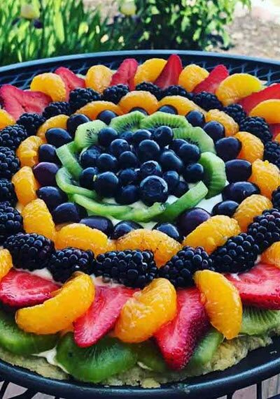Fruit Pizza Cheesecake Tart