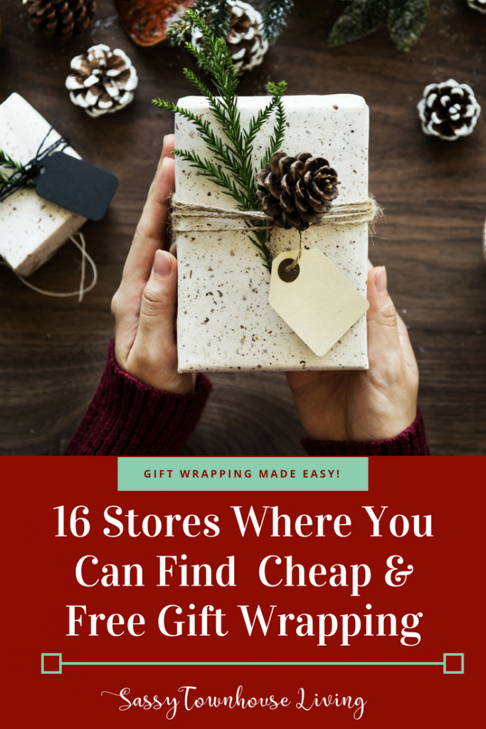 16 Stores Where You Can Find Cheap & Free Gift Wrapping - Sassy Townhouse Living