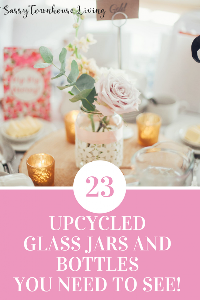 23 Mason Jars And Glass Jars You Need To See - Sassy Townhouse Living
