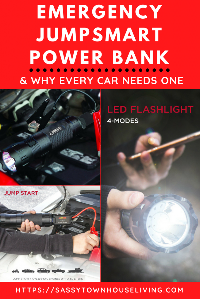 Emergency JumpSmart Power Bank & Why Every Car Needs One - Sassy Townhouse Living