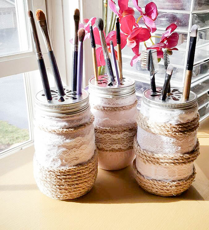 upcycled glass jars bottles