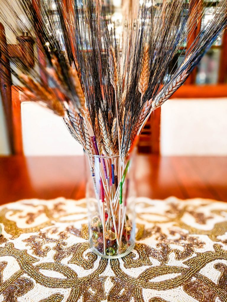Color Wrapped Wheat DIY Fall Decor