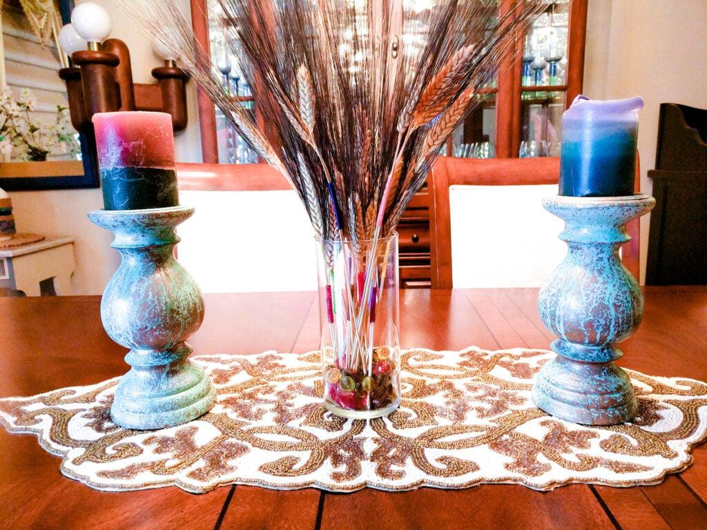 Color Wrapped Wheat DIY Fall Decor