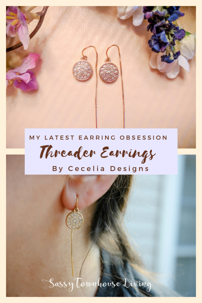 My Latest Earring Obsession - Threader Earrings By Cecelia Designs - Sassy Townhouse Living