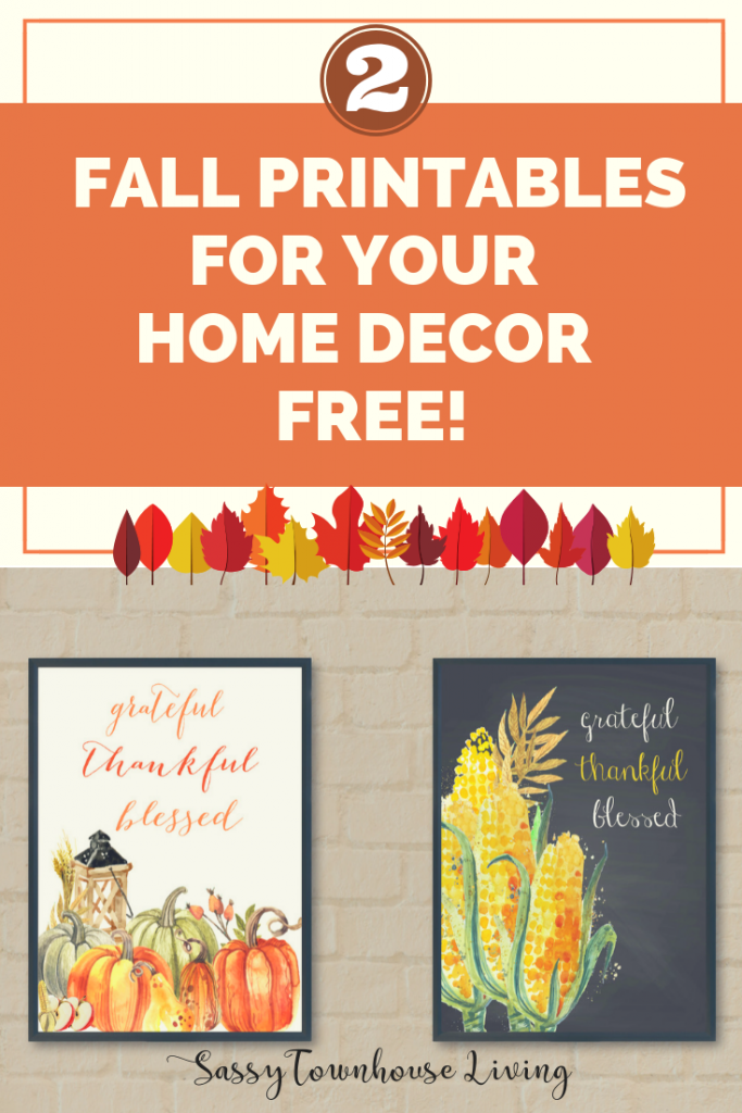 Two Fall Printables For Your Home Decor Free! Sassy Townhouse Living