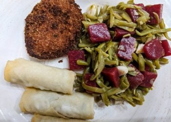 Sweet & Savory Green Bean, Garlic, & Beets Salad Recipe
