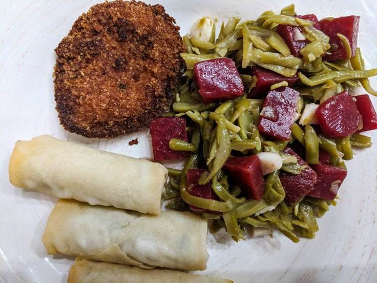 Sweet & Savory Green Bean, Garlic, & Beets Salad Recipe
