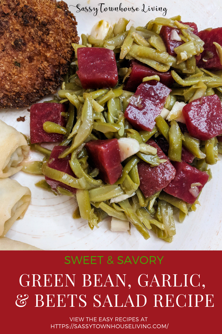 Sweet & Savory Green Bean, Garlic, & Beets Salad Recipe - Sassy Townhouse Living
