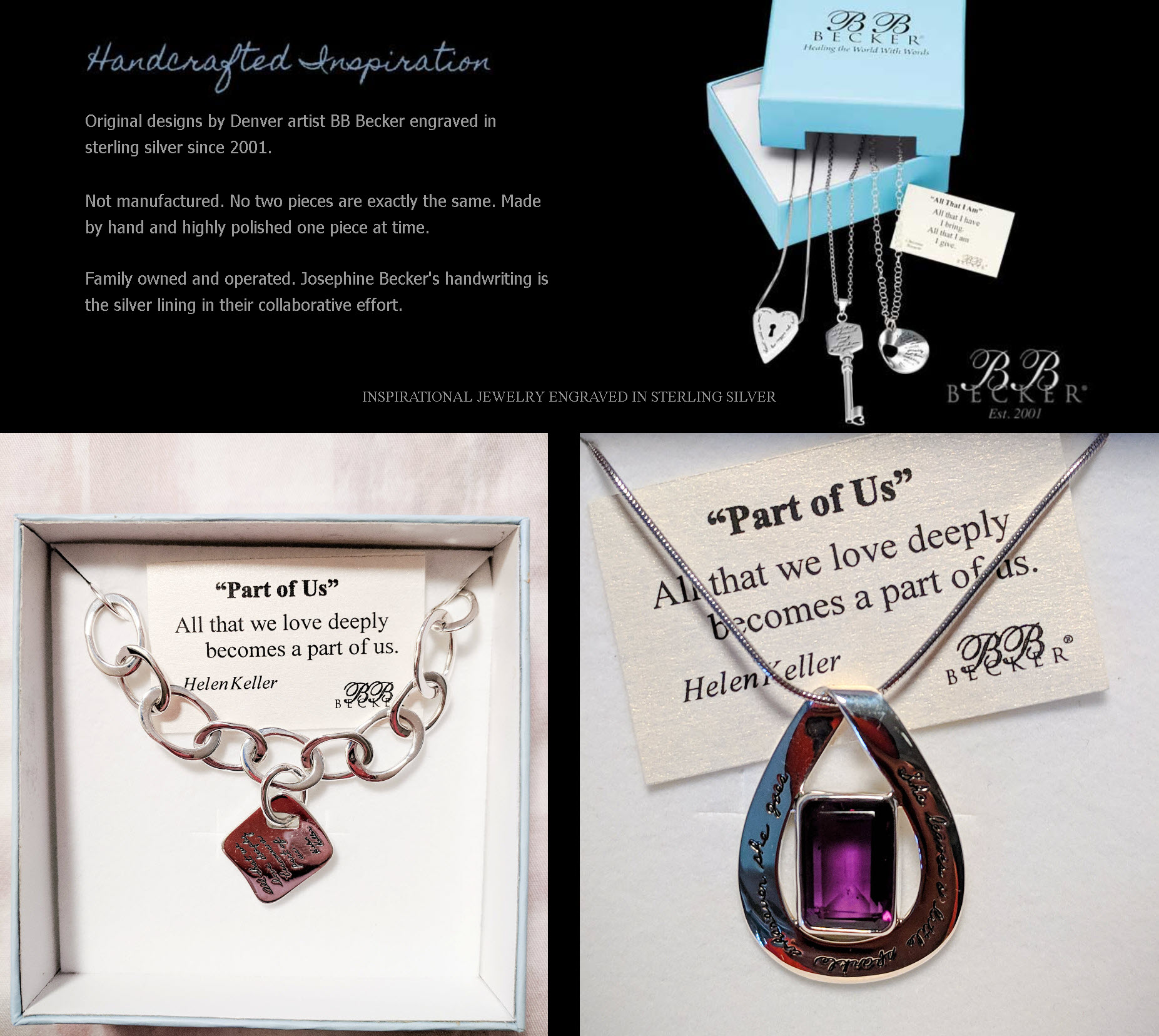 Creative Spirit Handcrafted Quotable Jewelry