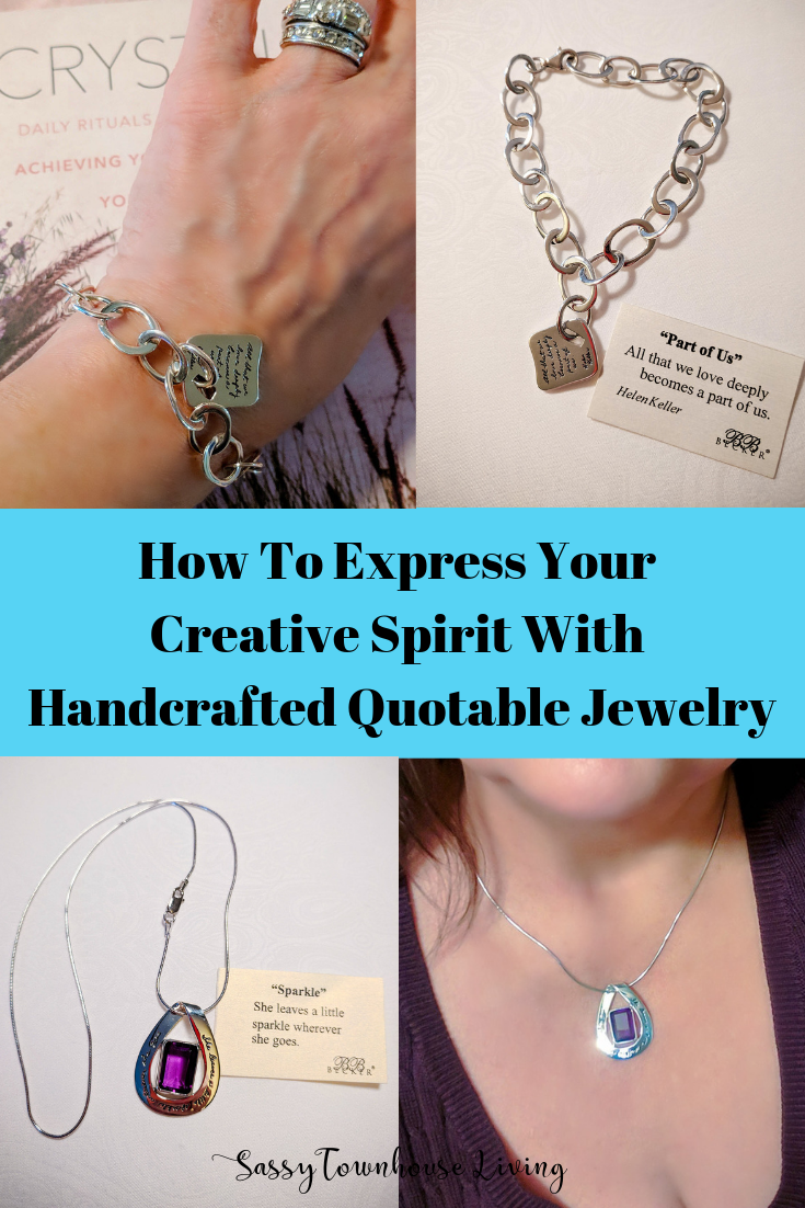 How To Express Your Creative Spirit With Handcrafted Quotable Jewelry - Sassy Townhouse Living