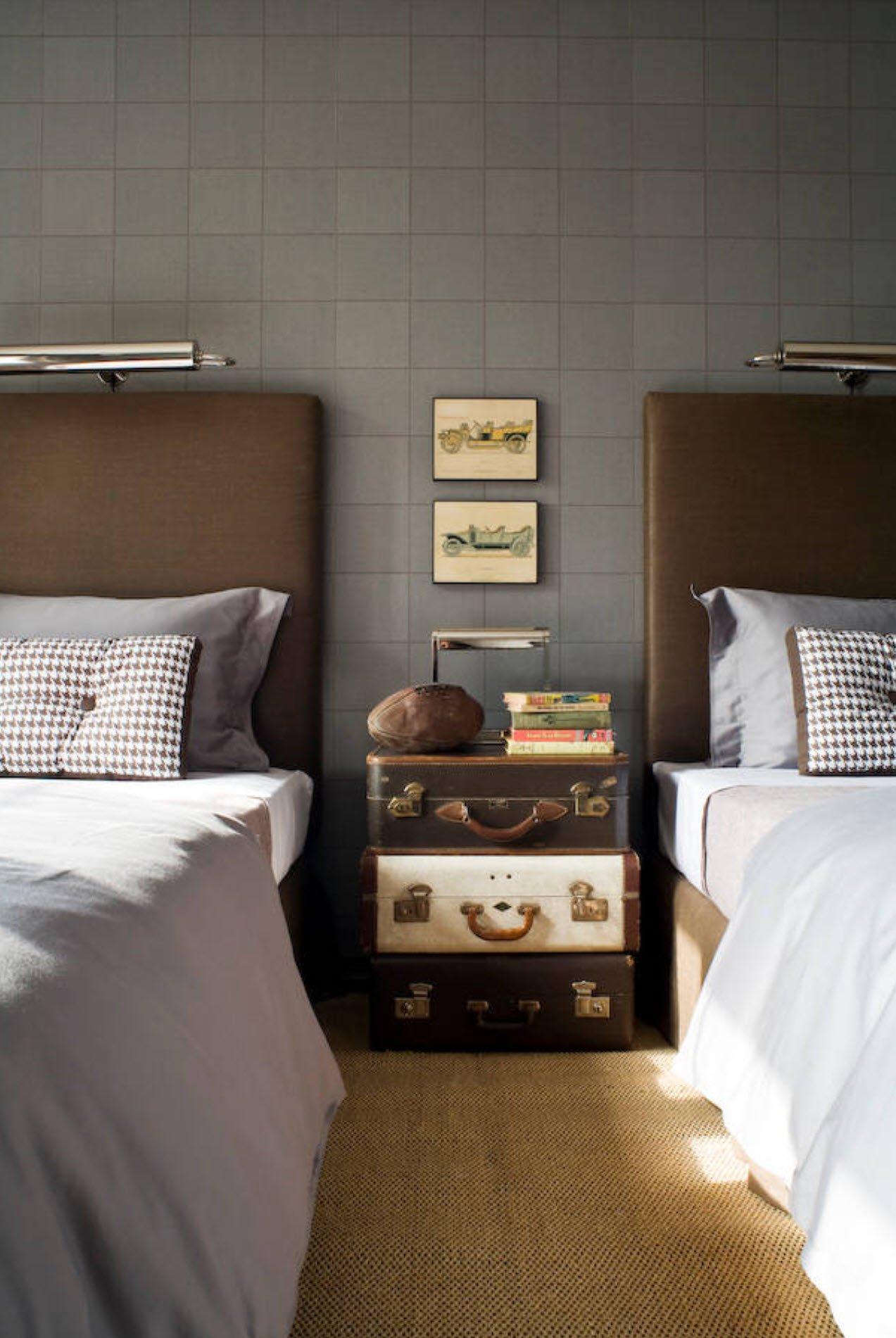 vintage suitcases nightstand