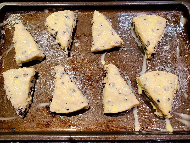scones baking