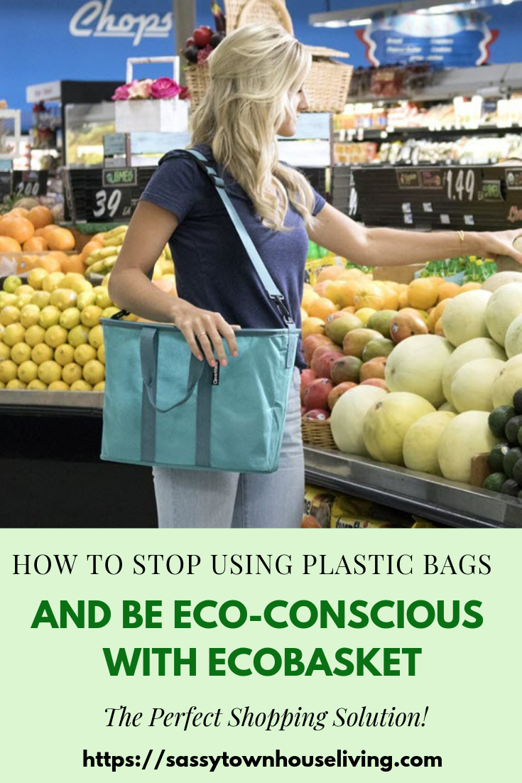 How To Stop Using Plastic Bags And Be More Eco-Conscious With EcoBasket - Sassy Townhouse Living