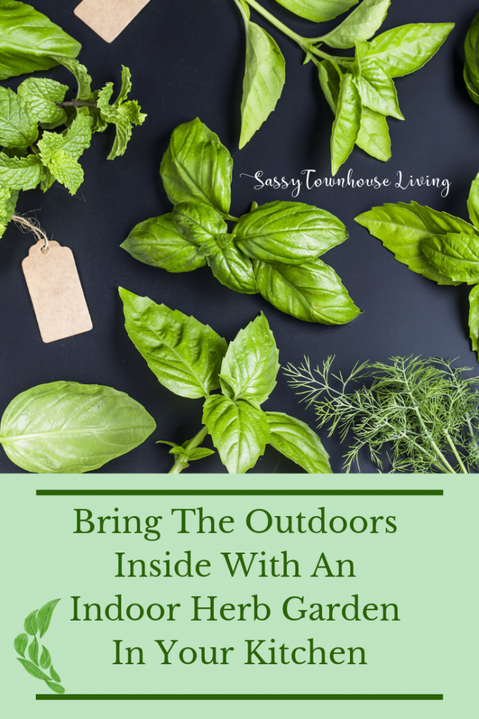 Bring The Outdoors Inside With An Indoor Herb Garden In Your Kitchen - Sassy Townhouse Living