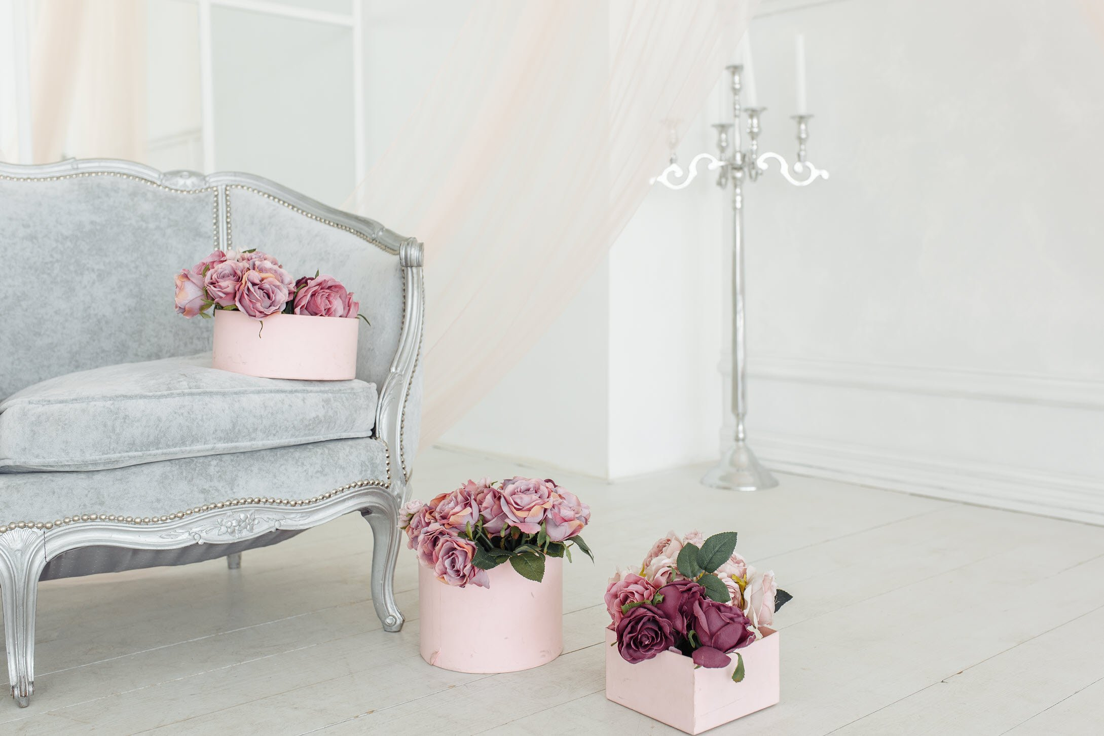 decorate with fresh flowers