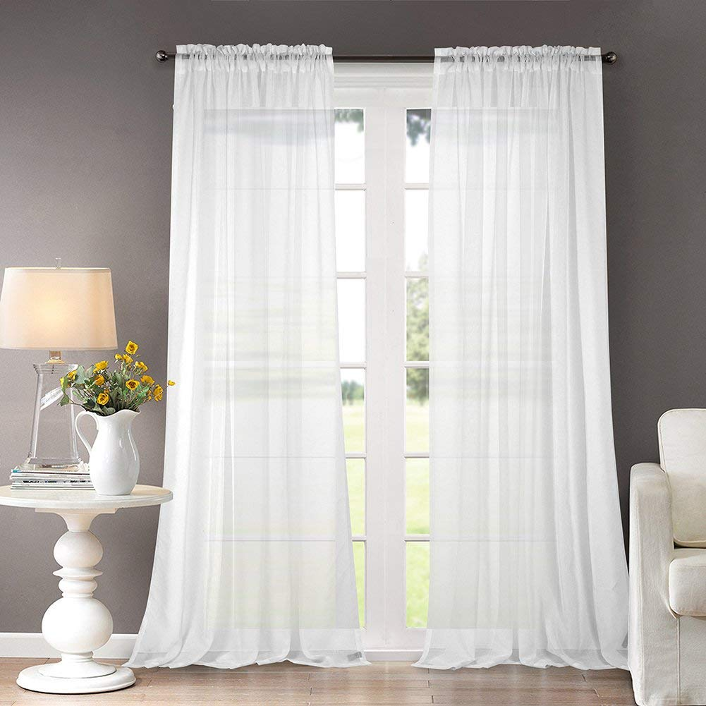 light bright white curtains