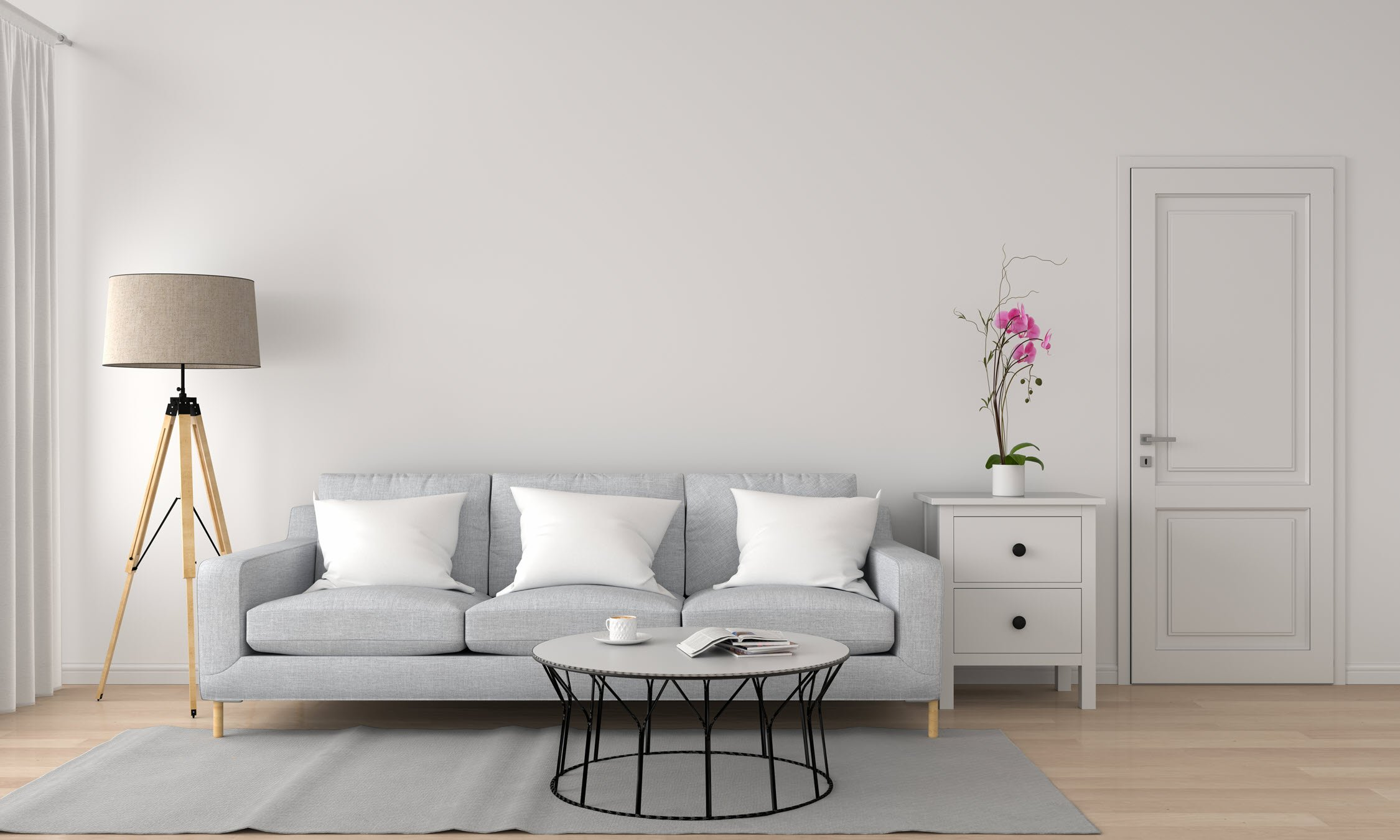 Minimalist Living Room neutral colors
