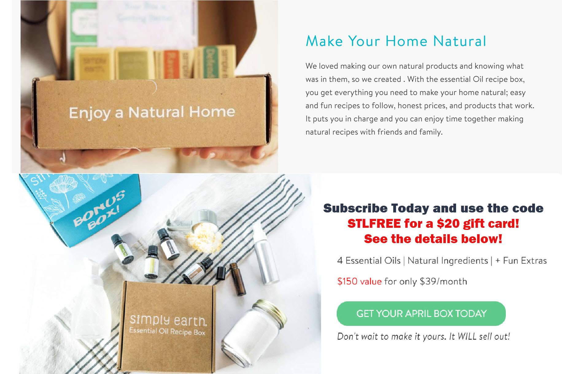 discount code Simply Earth
