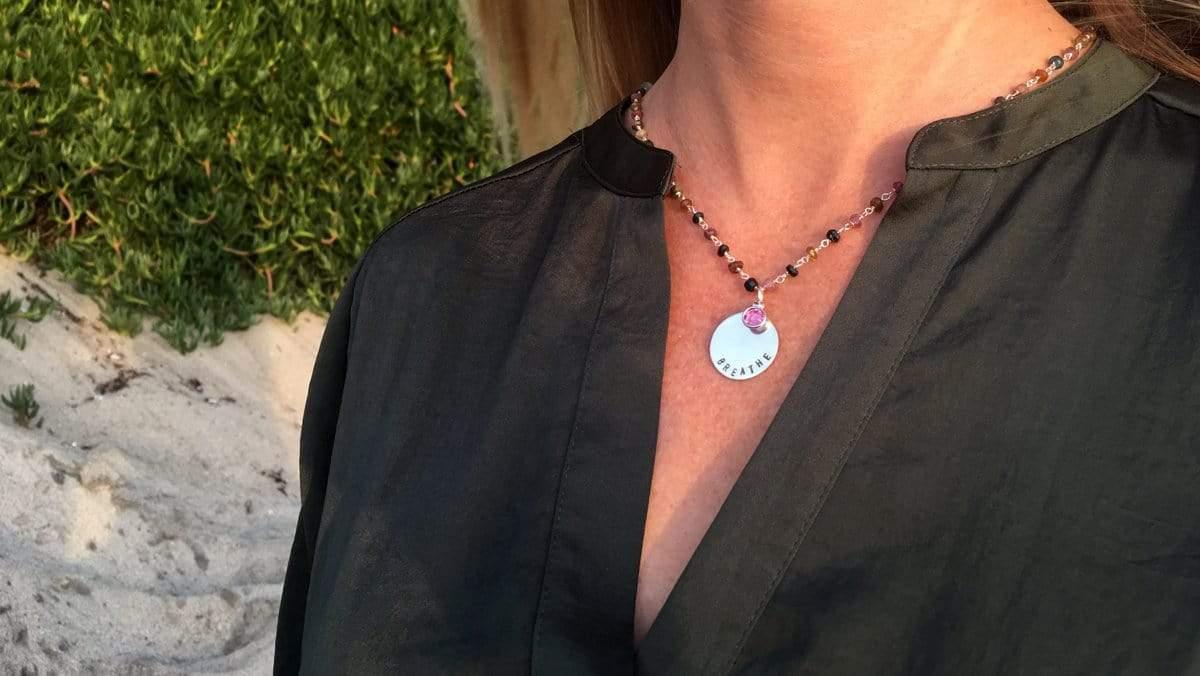 Pink Tourmaline Necklace