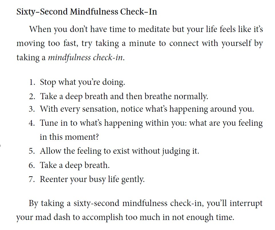 mindfulness check-in