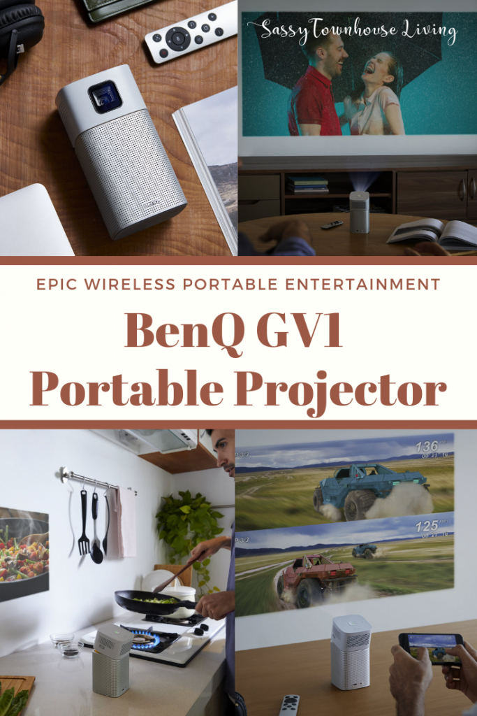 BenQ GV1 Portable Projector Review Epic Wireless Portable Entertainment - Sassy Townhouse Living