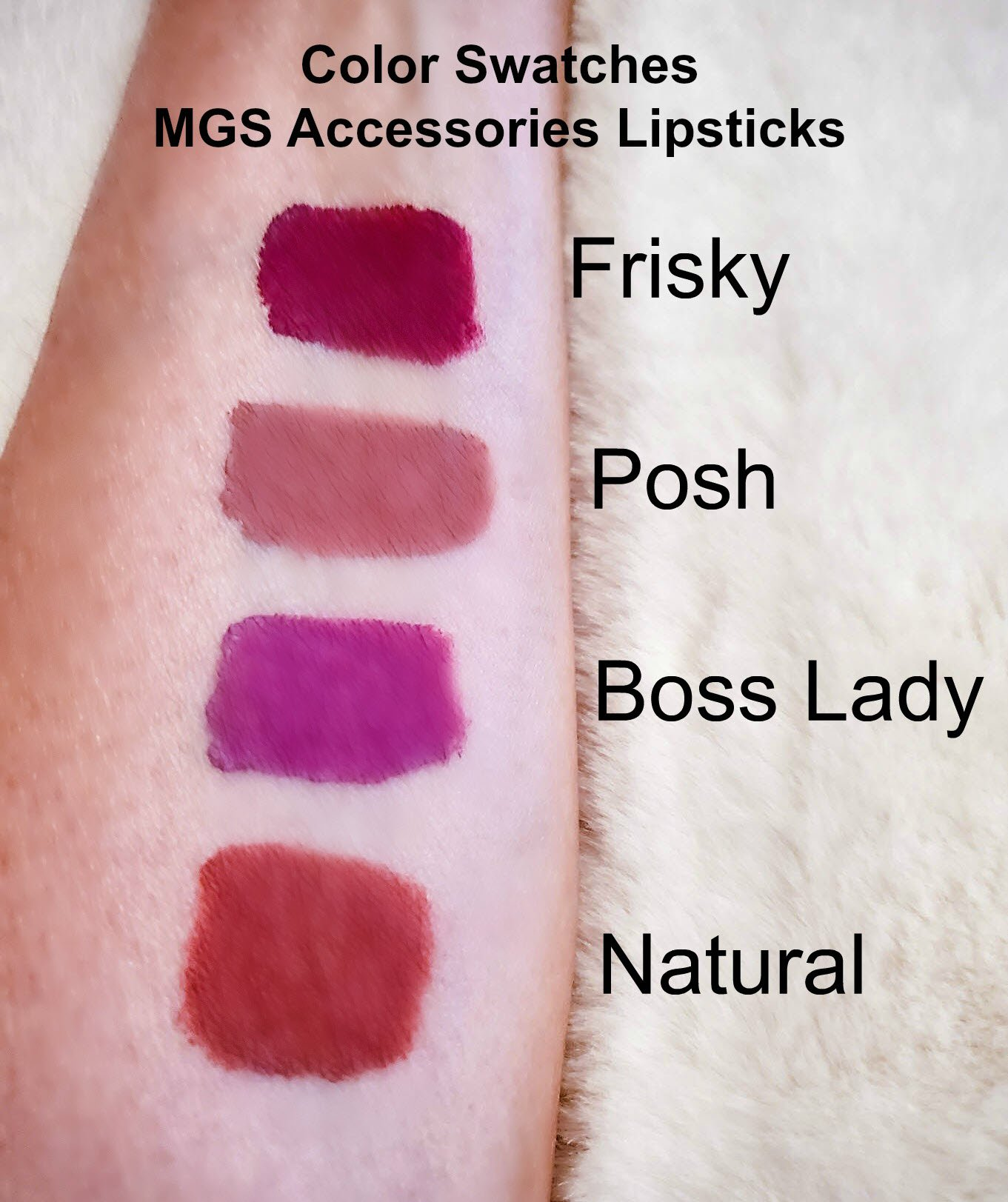 MGS Accessories Lipstick Swatches