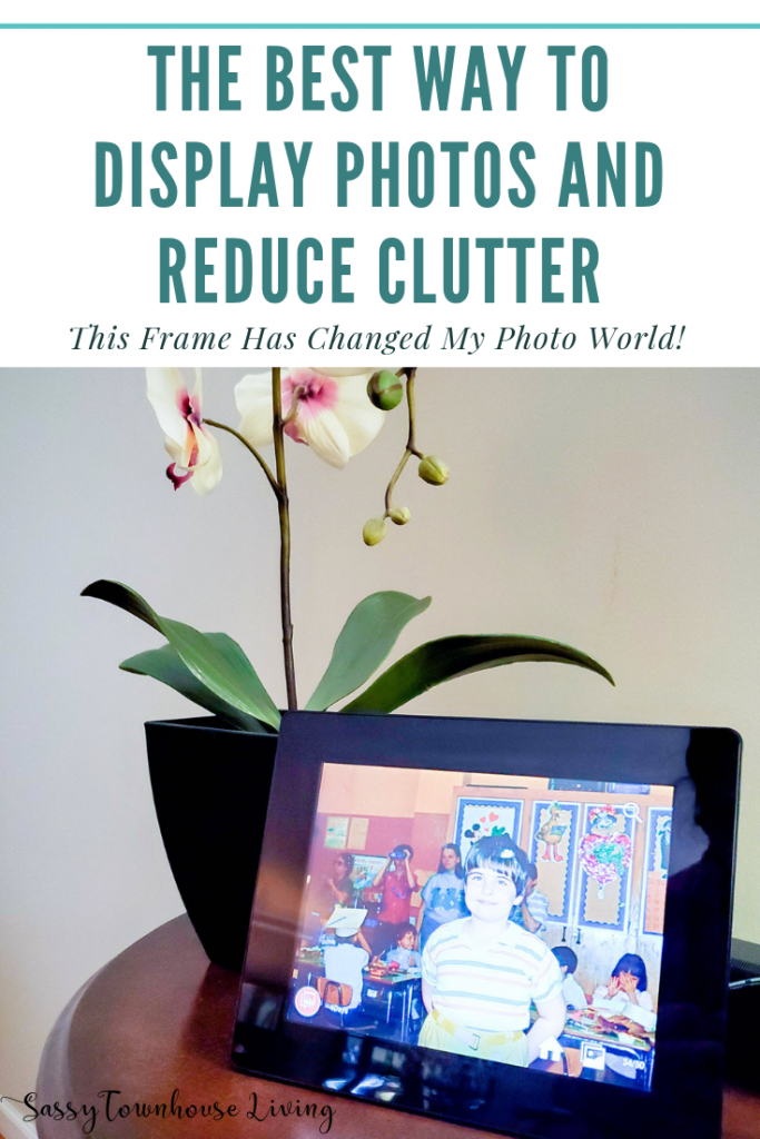 The Best Way To Display Photos And Reduce Clutter - Sassy Townhouse Living