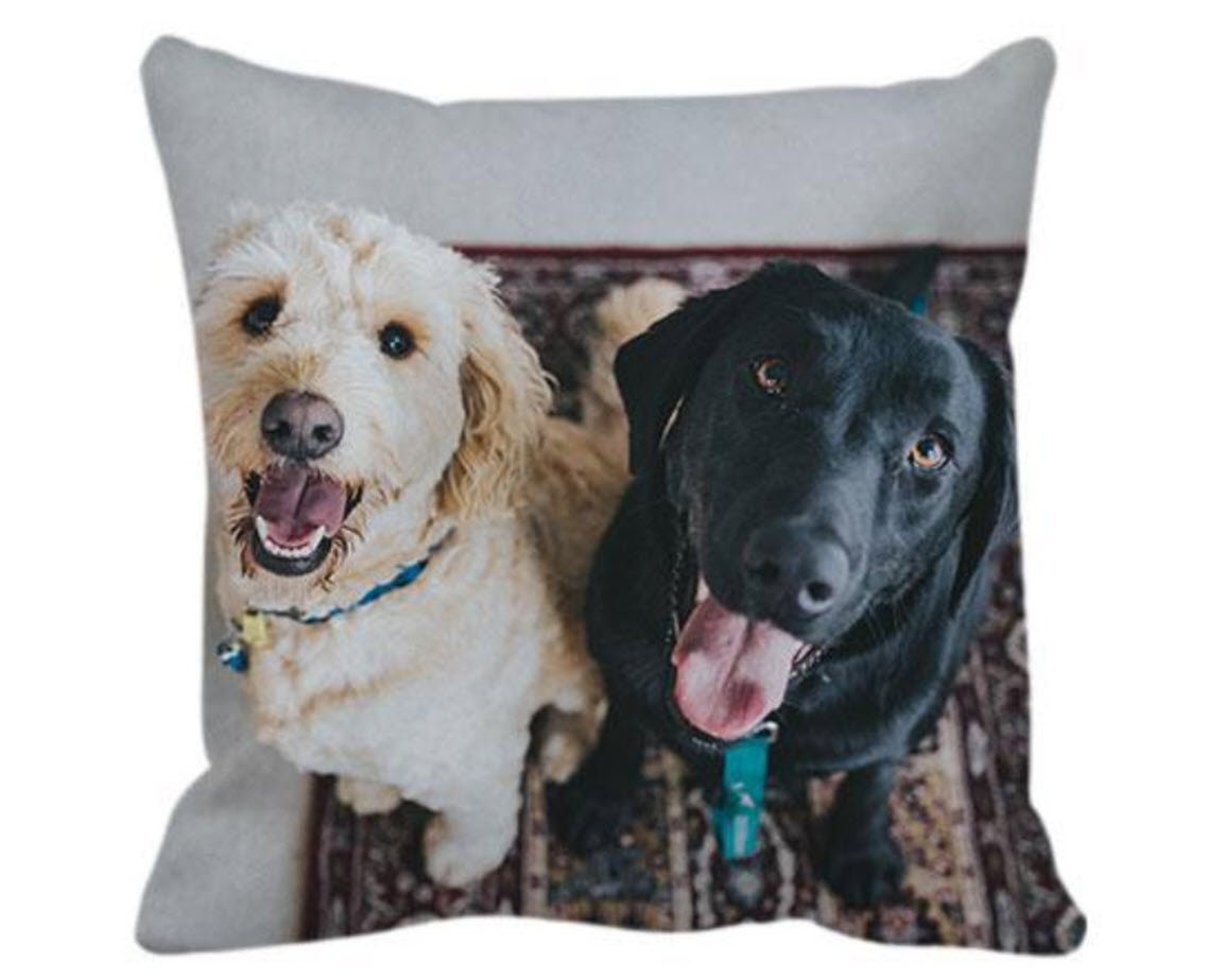 canvas printed pillow pets