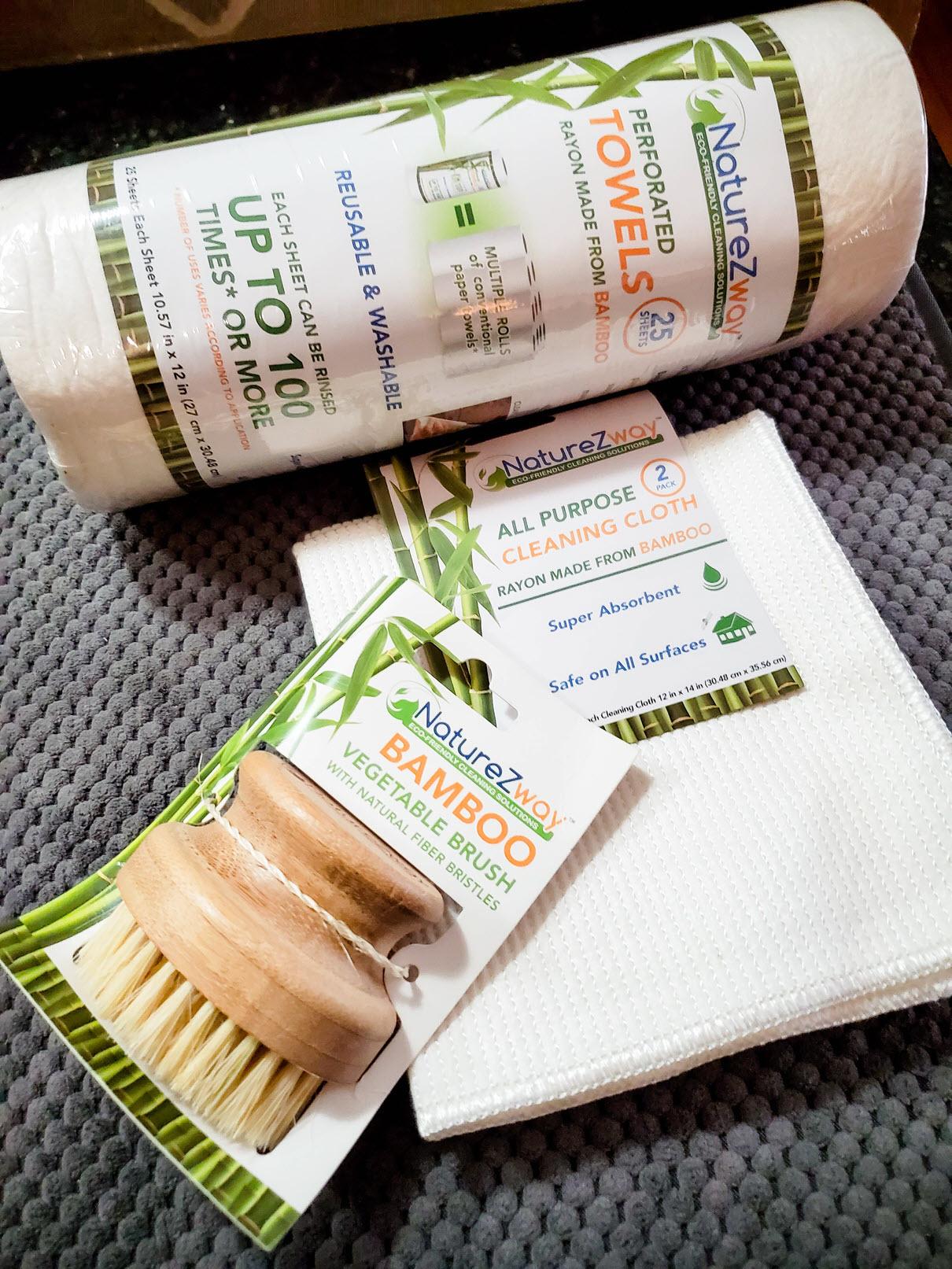 NatureZway Bamboo Vegetable Brush
