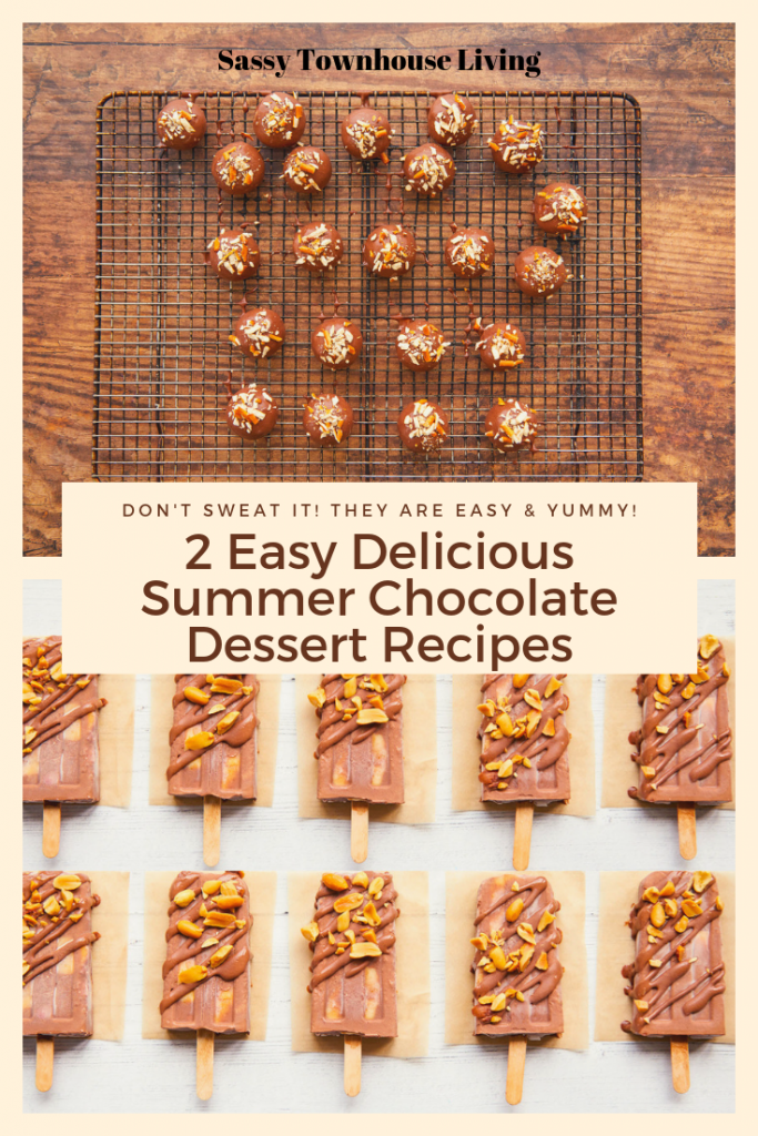2 Easy Delicious Summer Chocolate Dessert Recipes - Sassy Townhouse Living
