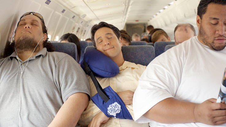Fall Asleep Anywhere In Comfort With The Dream Sling Travel Pillow